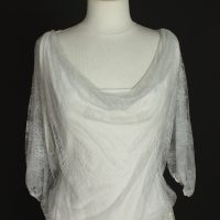 Lila robe de mariée d'occasion bustier