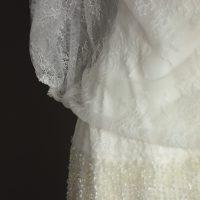 Lila robe de mariée d'occasion dentelles