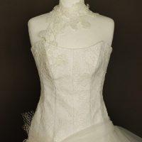 Aurianne robe de mariée d'occasion-détail du bustier