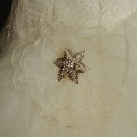 Aurianne robe de mariée d'occasion-détail jupe