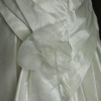 Guénaelle robe de mariée d'occasion détail jupe