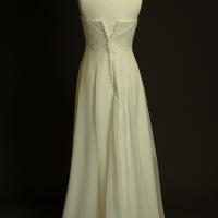 Fleur robe de mariée d'occasion dos