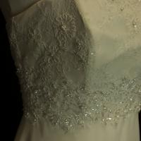 Fleur robe de mariée d'occasion détail bustier