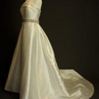 Murielle La Mariée à Bicyclette robe de mariée outlet Rosa Clara profil
