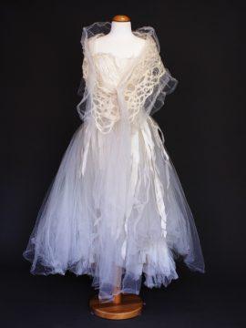 Elise la mariée à bicyclette - robe de mariée occasion - Mieke Cosijn bolero