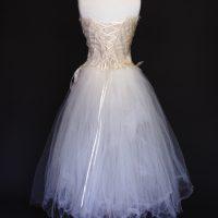 Elise la mariée à bicyclette - robe de mariée occasion - Mieke Cosijn dos