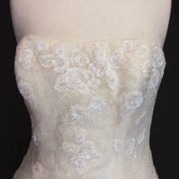Lesly la mariée à bicyclette - robe de mariée occasion - pronovias bustier