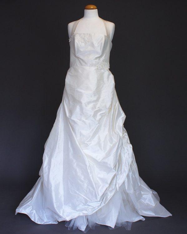 Natacha La Mariée à Bicyclette - robe de mariée d'occasion - Création Bochet