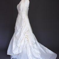 Natacha La Mariée à Bicyclette - robe de mariée d'occasion - Création Bochet profil