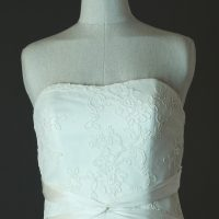 Freya - Lusan Mandogus - détail bustier - la mariée à Bicyclette - robe de mariée occasion