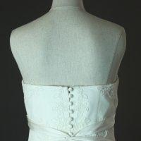 Freya - Lusan Mandogus - detail dos - la mariée à Bicyclette - robe de mariée occasion