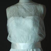 Diane - Charline Verbeeken - detail devant - la mariée à Bicyclette - robe de mariée occasion
