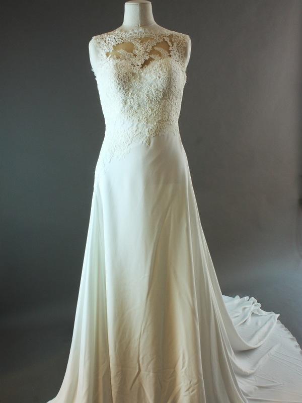 Darling Pronovias la mariée à Bicyclette robe de mariée d'occasion avant