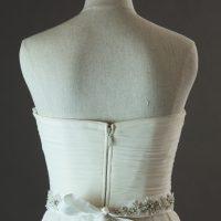 Dolina - Sadoni - détail dos - la mariée à Bicyclette - robe de mariée d'occasion