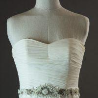 Dolina - Sadoni - détail du bustier- la mariée à Bicyclette - robe de mariée d'occasion