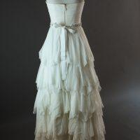 Dolina - Sadoni - dos - la mariée à Bicyclette - robe de mariée d'occasion