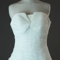 Danéa Pronovias la mariée à Bicyclette détail bustier robe de mariée d'occasion
