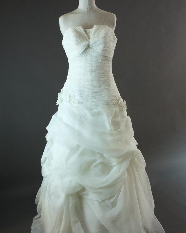 1707-36-003- Danéa - Pronovias - la mariée à Bicyclette - robe de mariée d'occasion
