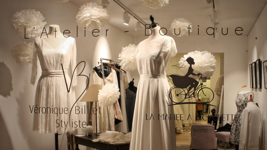 L'Atelier Boutique - Véronique Billiet & La mariée à Bicyclette