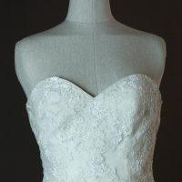 Frederique - Pronovias - detail bustier - la mariée à Bicyclette - robe de mariée occasion