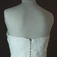 Frederique - Pronovias - detail du dos - la mariée à Bicyclette - robe de mariée occasion