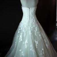 Frederique - Pronovias - dos - la mariée à Bicyclette - robe de mariée occasion