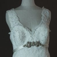 Lionera - Allure - detail avant - la mariée à Bicyclette - robe de mariée occasion