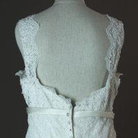 Lionera - Allure - detail du dos - la mariée à Bicyclette - robe de mariée occasion