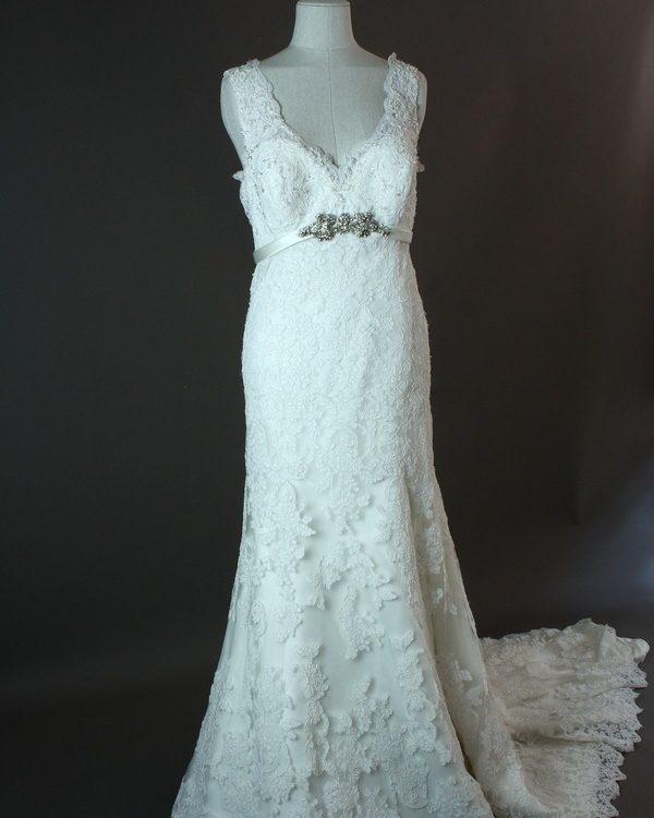 Lionera - Allure - devant - la mariée à Bicyclette - robe de mariée occasion