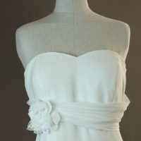 Natasia - Bella - detail devant - la mariée à Bicyclette - robe de mariée occasion