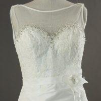 Eleane - Linea Raffaelli - detail devant - la mariée à Bicyclette - robe de mariée occasion