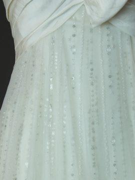 Emmaëlle - Enzoani - la mariée à Bicyclette - robe de mariée occasion - détail jupe