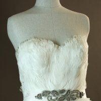 Geneva - Pronovias - dos - la mariée à Bicyclette - robe de mariée occasion détail du bustier