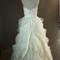 Geneva - Pronovias - dos - la mariée à Bicyclette - robe de mariée occasion dos