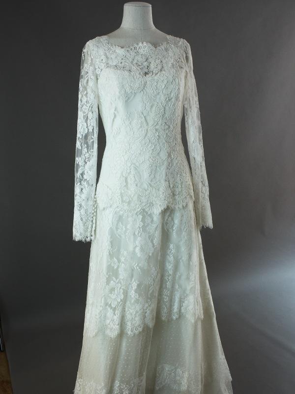 Felicita - Cymbeline - detail devant- la mariée à Bicyclette - robe de mariée occasion