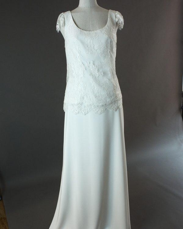 Galia et Flora - Lambert Creation - devant- la mariée à Bicyclette - robe de mariée outlet