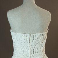 Caravel - Charlie Brear - detail dos - la mariée à Bicyclette - robe de mariée outlet
