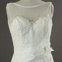 Lou - Linea Raffaelli - detail devant - la mariée à Bicyclette - robe de mariée occasion