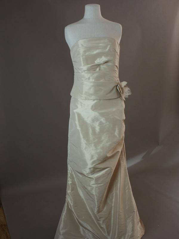 Ersillia - Linea raffaelli - detail devant - la mariée à Bicyclette - robe de mariée occasion