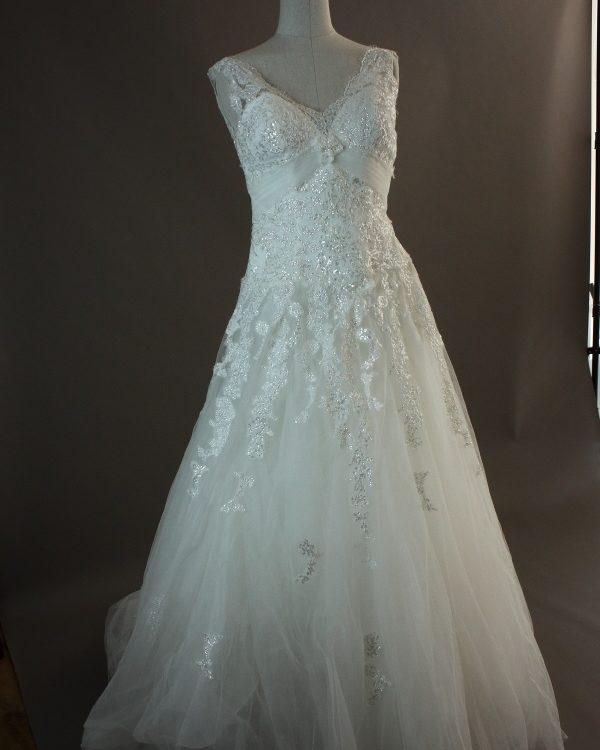Lucy - Miss Kelly - devant - la mariée à Bicyclette - robe de mariée occasion