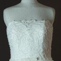 Esmeralda - Rosa Clara - detail bustier - la mariée à Bicyclette - robe de mariée occasion