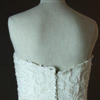 Esmeralda - Rosa Clara - detail dos - la mariée à Bicyclette - robe de mariée occasion