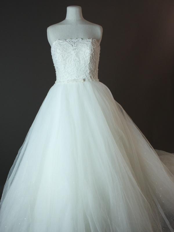 Esmeralda - Rosa Clara - devant - la mariée à Bicyclette - robe de mariée occasion