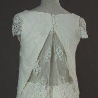 Doha - Stephanie le Grelle - detail dos - la mariée à Bicyclette - robe de mariée occasion