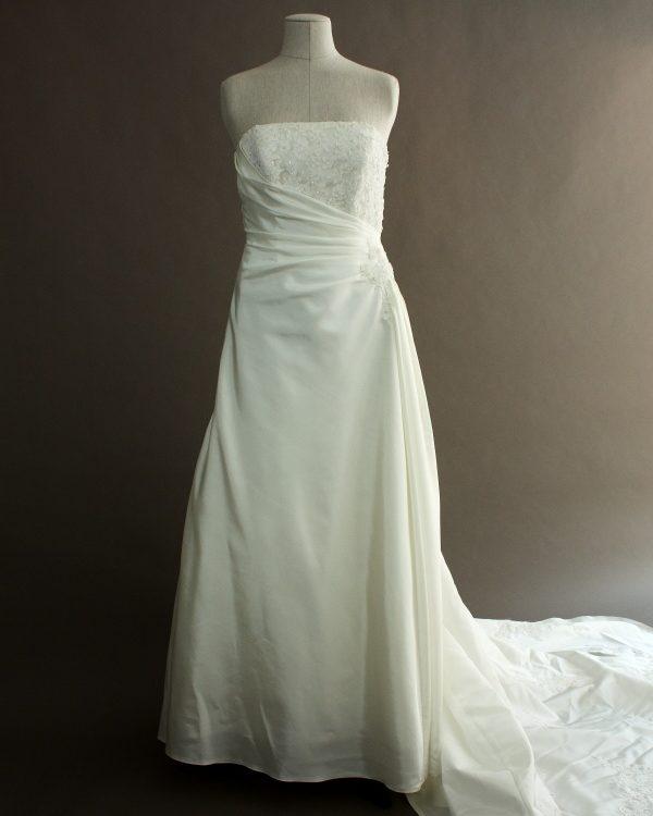 Francoise - Tomy Mariage - devant - la mariée à Bicyclette - robe de mariée occasion