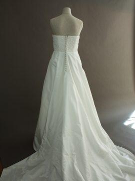 Francoise - Tomy Mariage - dos - la mariée à Bicyclette - robe de mariée occasion