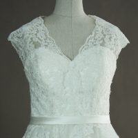 Mélanie - Pronuptia - detail devant - la mariée à Bicyclette - robe de mariée occasion