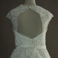 Mélanie - Pronuptia - detail dos - la mariée à Bicyclette - robe de mariée occasion