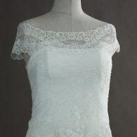 Elia - Cymbeline - detail devant - la mariée à Bicyclette - robe de mariée occasion