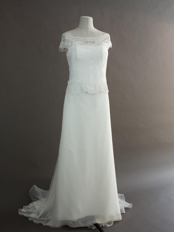 Elia - Cymbeline - devant - la mariée à Bicyclette - robe de mariée occasion